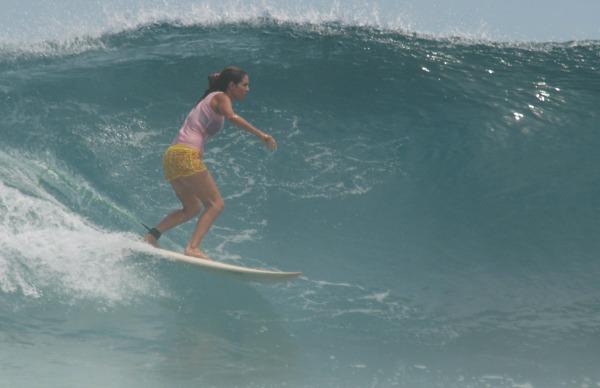 Maria hops aboard